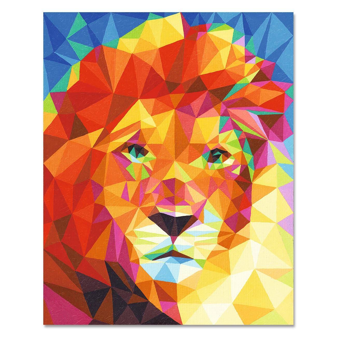 Malen nach zahlen polygon art l we - Leinwand zum malen ...