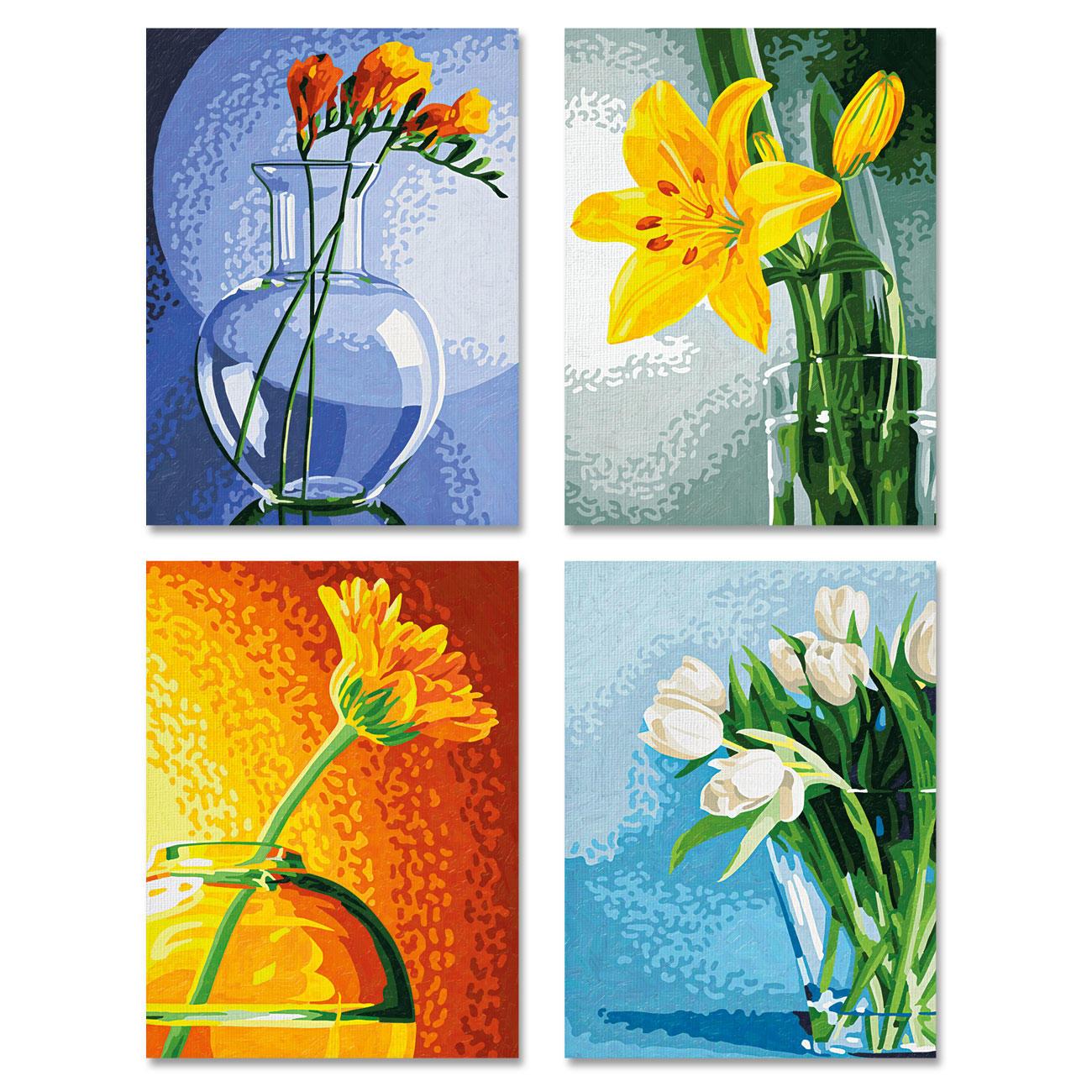 Malen nach Zahlen Quattro - Blumen im Licht