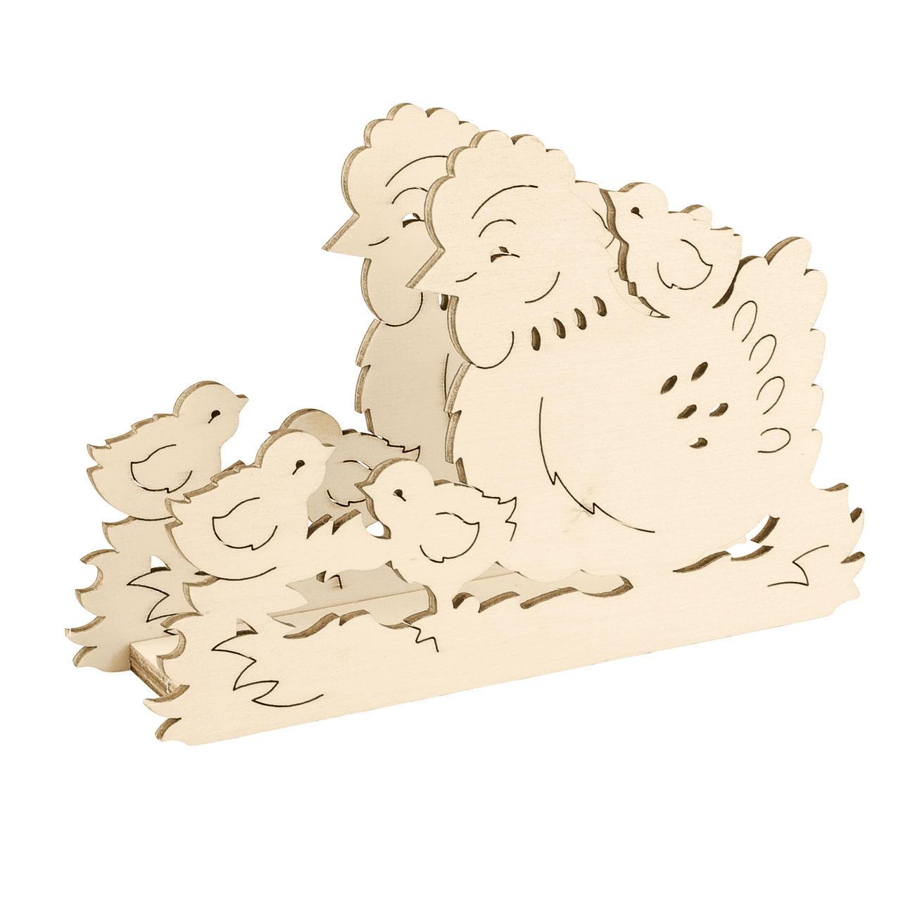 serviettenhalter aus holz fr hling ostern saisonales basteln basteln basteln f r den. Black Bedroom Furniture Sets. Home Design Ideas