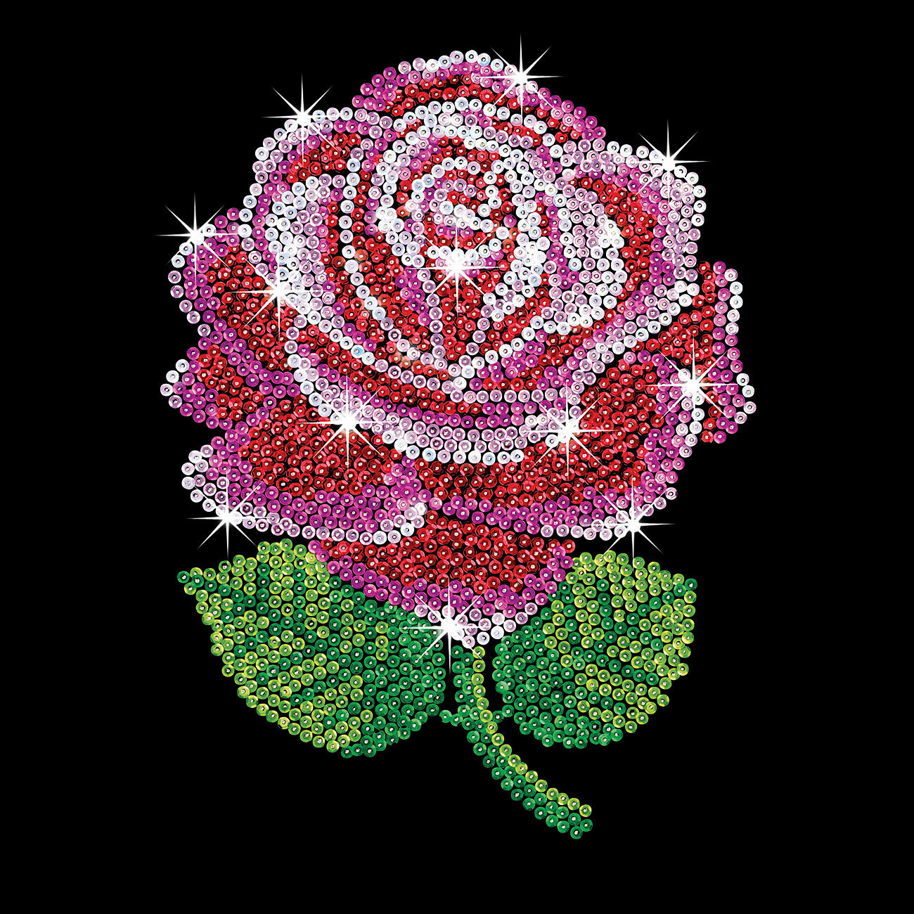 paillettenbild f r erwachsene rote rose. Black Bedroom Furniture Sets. Home Design Ideas