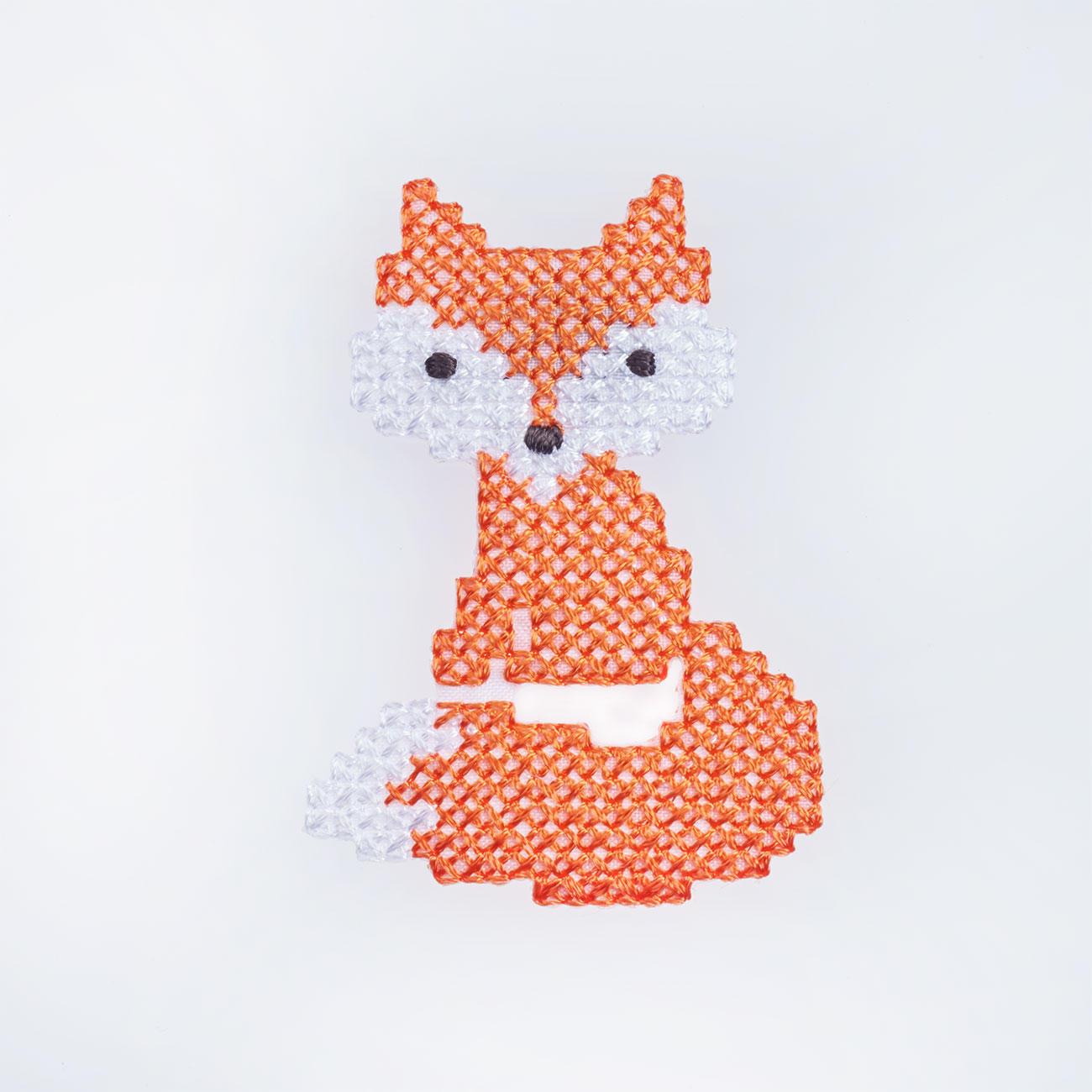 Stick Applikation Fuchs