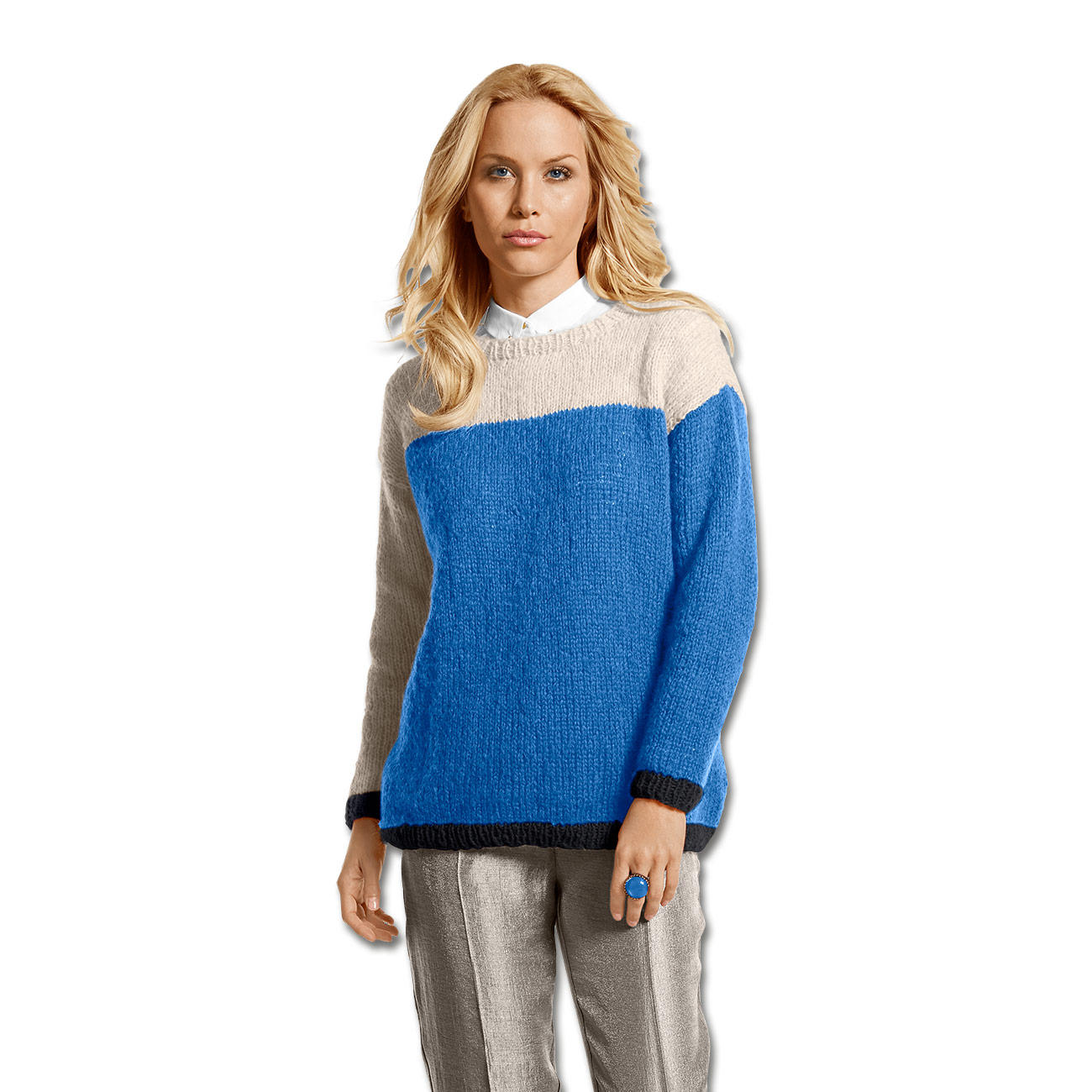 Modell 113 5 pullover aus aerea von junghans wolle 5 - Junghanns wolle ...