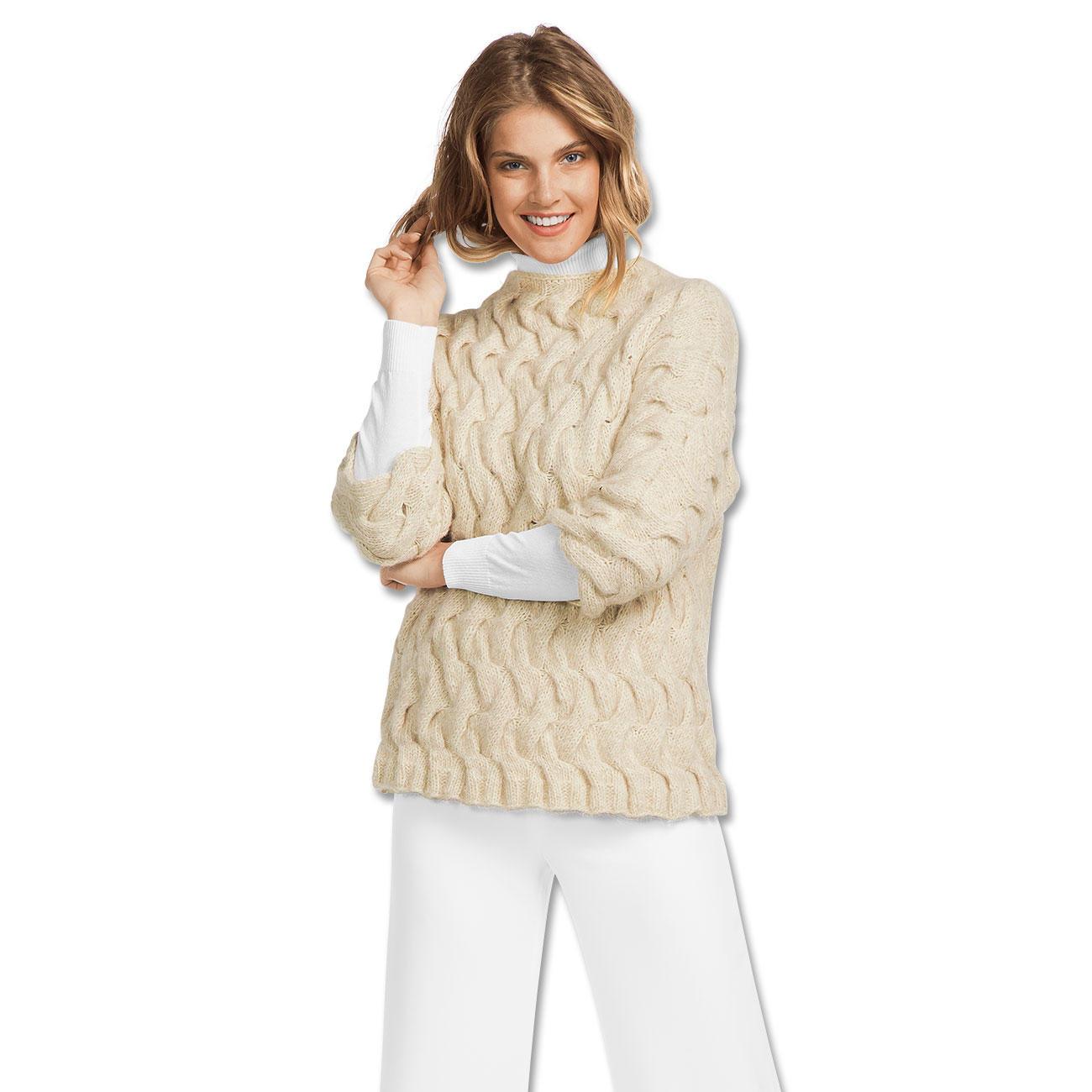 anleitung 156 7 damen pullover aus alpaca cotton von. Black Bedroom Furniture Sets. Home Design Ideas