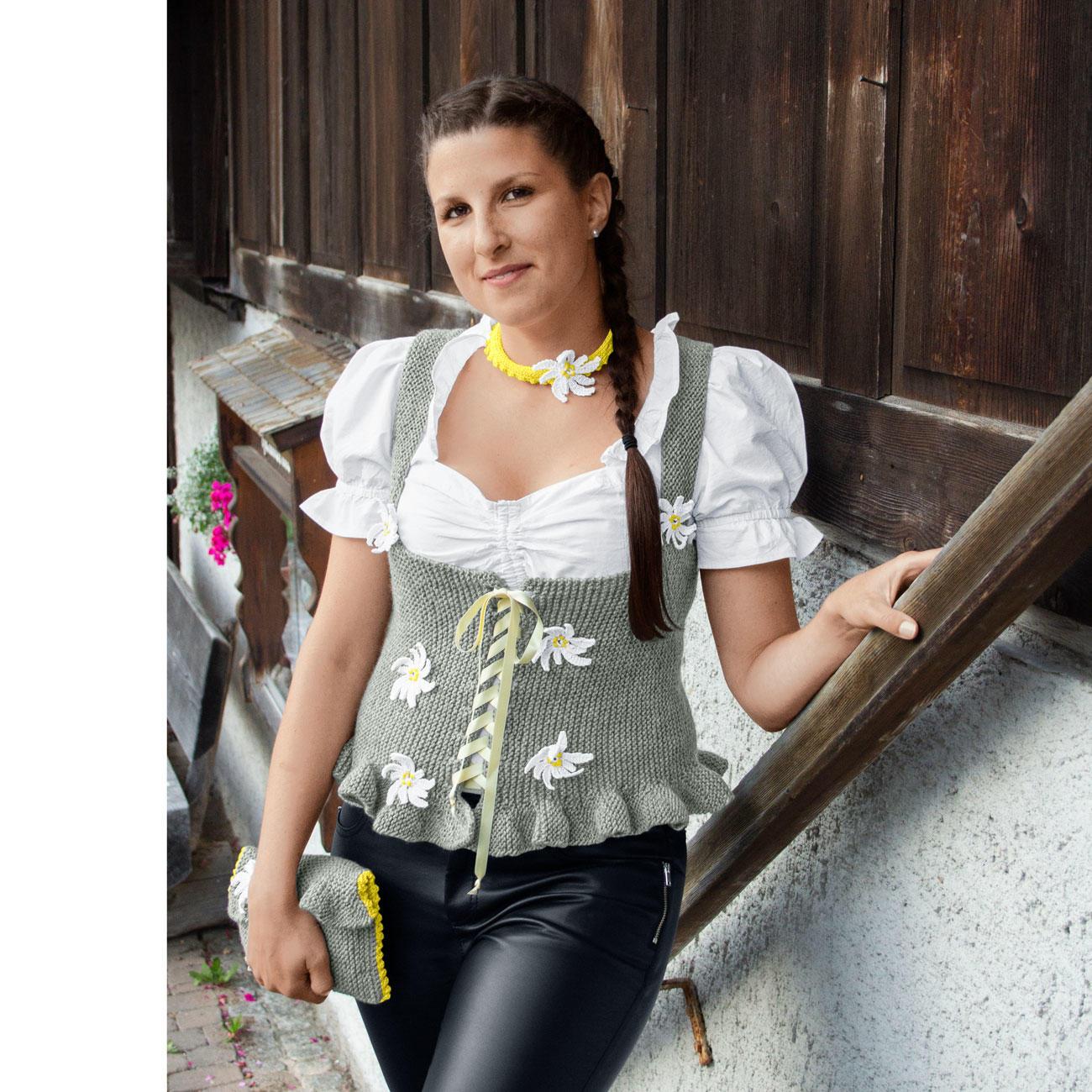 Anleitung 4098 Mieder Mit Kropfband Und Clutch Aus Trachtenwolle