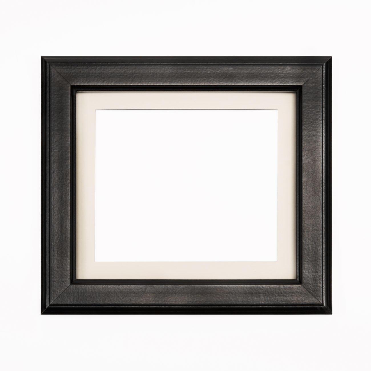 bilderrahmen schwarz mit passepartout ausschnitt 15 x 18 cm. Black Bedroom Furniture Sets. Home Design Ideas