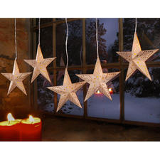 Sternengirlande aus Holz, Länge 83 cm Weihnachtszeit ist Dekozeit.