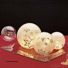 """Setpackung """"3 leuchtende Weihnachtskugeln"""" 3 leuchtende Weihnachtskugeln im Set."""