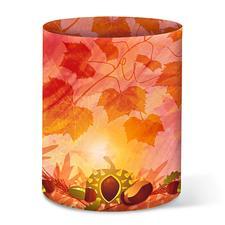 5 Herbstliche Mini-Tischlichter im Set Herbstliche Bastelideen.