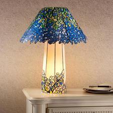 Tiffany Lampe, Blau Originelle Lampen selbst gemacht.