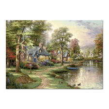 """Puzzle """"Am See"""" Puzzles nach Kunstwerken von Thomas Kinkade"""