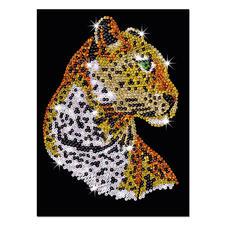 """Paillettenbild für Erwachsene """"Leopard"""" Paillettenbilder mit eindrucksvollen Motiven"""
