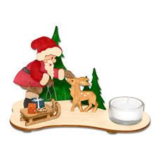 """Teelichthalter aus Holz """"Weihnachtsmann"""" Stimmungsvolle Dekorationen aus Holz"""