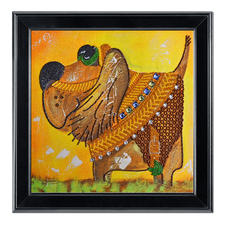 """Bead-Art-Bild """"Sancho Panza"""" Bead Art – Bilder mit edlem Perlen-Effekt."""