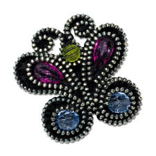 Komplettpackung - Brosche Schmetterling Kreieren Sie auffallend schöne Broschen aus besonderen Materialien.