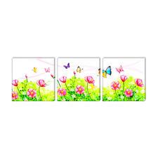 """Malen nach Zahlen """"Triptychon Blumenwiese"""" Malen nach Zahlen auf Keilrahmen."""