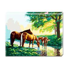 """Malen nach Zahlen """"Pferde"""" Malen nach Zahlen auf Keilrahmen."""