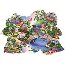 """Puzzle """"Rotkehlchen im Park"""" Puzzeln - Ein Spass für die ganze Familie – spannend und entspannend zugleich."""