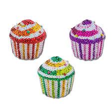"Komplettpackung ""3D Pailletten Figuren"", 3 Cupcakes 3D Pailletten Figuren – einfach gesteckt für Gross und Klein."