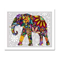 """Puzzle """"Elefant"""" Puzzles im kunterbunten Hippie-Design."""