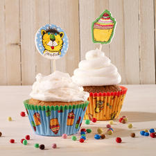Cupcake Deko-Set - Janosch Cupcakes - süsse Verführer im bunten Gewand