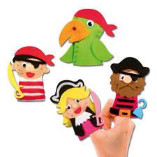 """Fingerpuppen """"Abenteuer"""" FILZEN – der beliebte Bastelspass für Erwachsene und Kinder."""