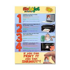 6 Shrinkjet™-Blätter im Set.