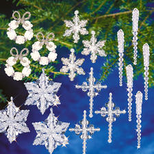 """XXL-Weihnachts-Set """"Kristall"""" Glamouröser Perlen-Weihnachtsschmuck – in Komplettpackungen zum kreativen Selbermachen."""