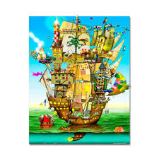 Puzzle - Norah´s Castle nach Colin Thompson Meisterwerke grosser Künstler als Puzzle
