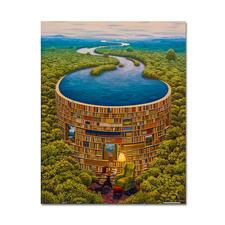 Puzzle - Bibliodame nach Jacek Yerka Meisterwerke grosser Künstler als Puzzle.