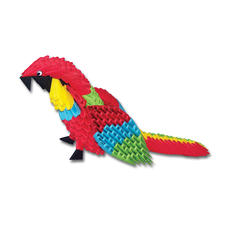 Modulares Origami - Papagei