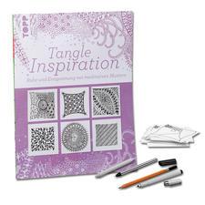 """Buch - Tangle Inspiration Buch """"Tangle Inspiration"""" inklusive Stifte und Kärtchen im Set"""