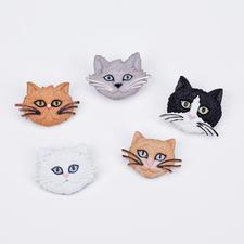 Niedliche Motivknöpfe - Katzen Tierisch gut – Alles rund um die Katze.