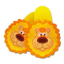 """Pantoffeln """"Löwe"""" aus Filz Filzen – der beliebte Bastelspass für Erwachsene und Kinder."""
