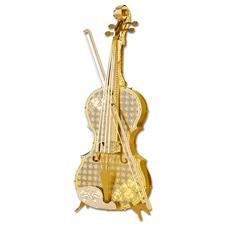 3D-Miniaturen - Violine Hochwertige Edelstahl – Miniaturen in 3D. Jetzt auch in Gold und Silber.