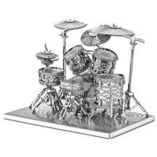 3D-Miniaturen - Schlagzeug Hochwertige Edelstahl – Miniaturen in 3D.