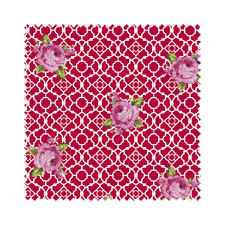 Meterware - Fenton House, Rose Traditionelle Dessins in elegant-kräftigen Farben.