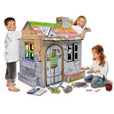 XXL-Spielhaus - Gartenhäuschen XXL-Spielhäuser zum Bemalen und Spasshaben.