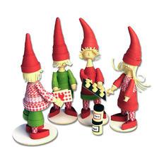 """Quilling-Set """"3D Wichtel-Kids"""" Weihnachtszeit ist Wichtelzeit"""