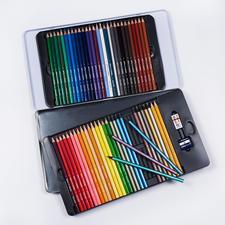 60 Buntstifte, Bruynzeel 60 Buntstifte in einer dekorativen Metallbox