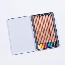 12 Buntstifte, Bruynzeel Expression Bruynzeel Expression Colour – 12 Buntstifte in einer Metallbox.