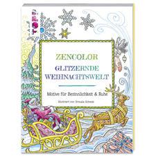 """Buch - Glitzernde Weihnachtswelt Ausmalbuch """"Glitzernde Weihnachtswelt"""""""