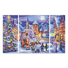 """Triptychon - Weisse Weihnacht Malen nach Zahlen """"Triptychon Weisse Weihnacht"""""""