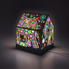 """Puzzle-Lampe """"Bunter Elefant"""" Puzzle-Lampen"""