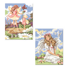 Malen nach Zahlen Twin-Packs - Fantasy Malen nach Zahlen Twin-Packs – 2 Bilder im Set