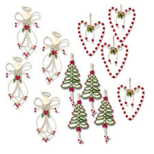 36 Folk Art Anhänger im Set Glamouröser Perlen-Weihnachtsschmuck