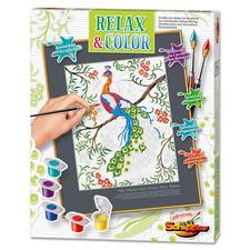 """Relax & Color """"Pfau"""" Relax & Color – Die Alternative zum Ausmalbuch für Erwachsene."""