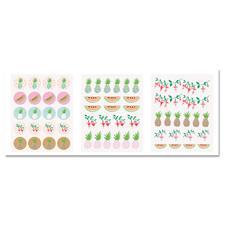 Sticker - Ananas, 120 Stück im Set.