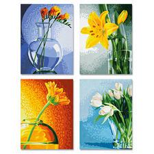 Malen nach Zahlen Quattro - Blumen im Licht Malen nach Zahlen Quattro - 4 Bilder im Set.