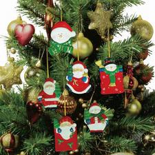 Weihnachtliche Anhänger zum Bemalen