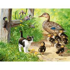 Puzzle - Enten-Spaziergang Ein Spass für die ganze Familie – spannend und entspannend zugleich.